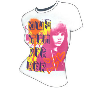 Justin Bieber - Pink Photo (Women's/Junior Sizes)
