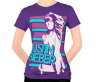 Justin Bieber - Purple Stripes (Women's/Junior Sizes)