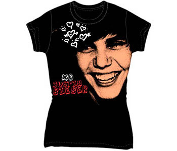 Justin Bieber - Black XO JB (Women's/Junior Sizes)